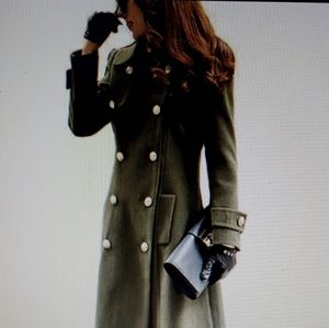 Zara Basic Military Style Coat